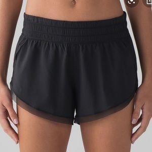 Lululemon Black Shorts Mesh Trim
